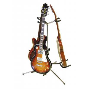 DIMAVERY Guitar Stand 3-fold sil-1