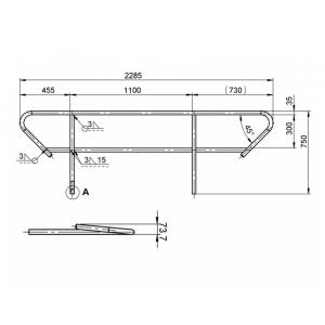 8070278M-ALUTRUSS BE-1T handrail for BE-1T-1
