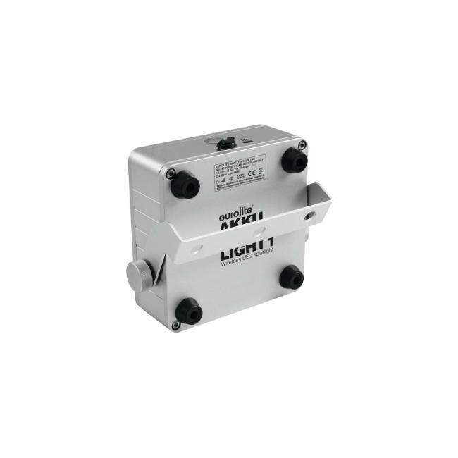 41700001-EUROLITE AKKU Flat Light 1 - LED UPLIGHT met Accu Zilver - LED Uplight-4