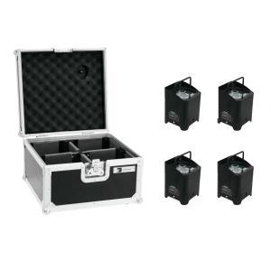 20000034-EUROLITE Set 4x AKKU UP-4 QCL Spot + Koffer - LED Uplight Set