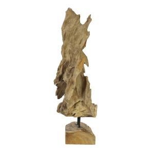 83200182-Europalms Natuurhouten sculptuur 60cm-1