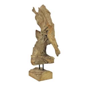 83200182-Europalms Natuurhouten sculptuur 60cm