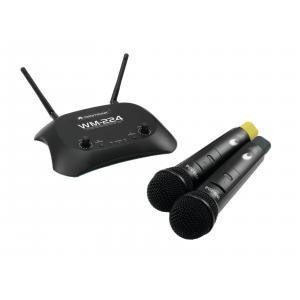 13072003-OMNITRONIC WM-224 2-kanaals draadloze microfoon set 2.4GHz