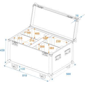 51836885-ROADINGER Flightcase 4x PLB-130-1