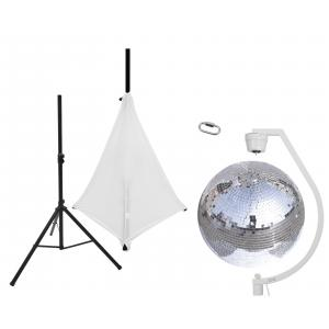 EUROLITE Set Mirror ball 50cm with stand and tripod cover white