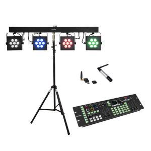 EUROLITE Set LED KLS-3002 + Controller + STV-40S-WOT Steel stand