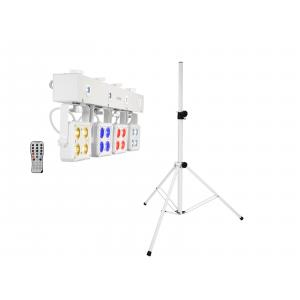 EUROLITE Set LED KLS-180 white + BS-2 EU Loudspeakerstand white