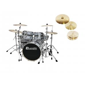 DIMAVERY Set DS-600 grey + DB Cymbals