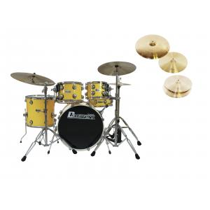 DIMAVERY Set DS-620 yellow + DB Cymbals