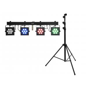 EUROLITE Set LED KLS-3002 + STV-60-WOT EU Steel stand black
