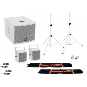 OMNITRONIC Set MOLLY 2.1 Active System Sub + 2x Top + Accessories
